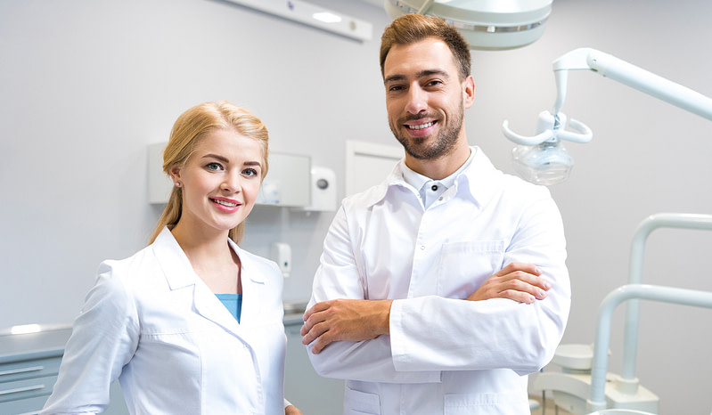 Hygienist and Dentist